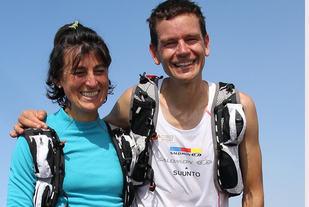 Antonella Confortola Wyatt og Jonathan Wyatt er begge klar for årets Skåla Opp. Her fra Nuten Opp i 2012. Foto Oddny Ringheim
