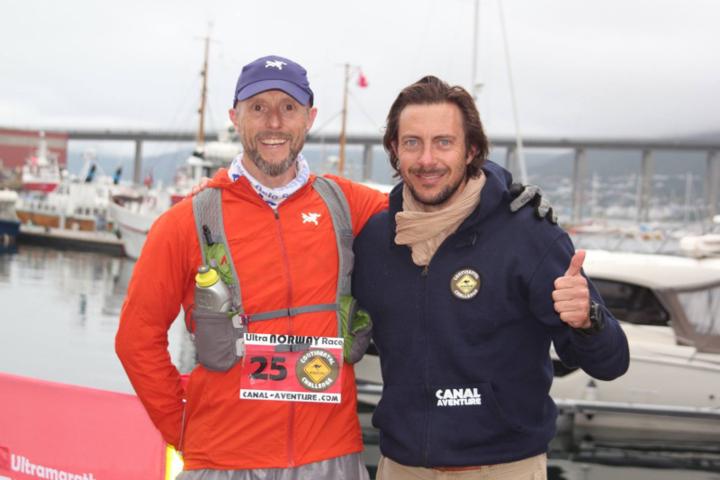 Frode Lein sammen med Jérôme Lollier som er racedirector for løpene i The Canal Challenge (arrangørfoto)