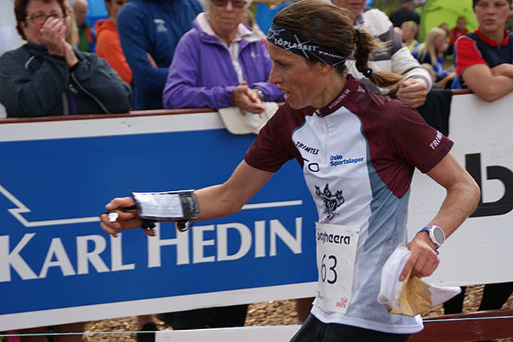 Anne Margrethe Hausken Nordberg ligger på 2. plass i o-ringen.