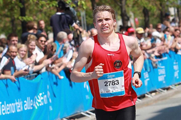 Lasse Blom løp 5000 m på 14.57,69. (Arkivfoto: Kjell Vigestad)