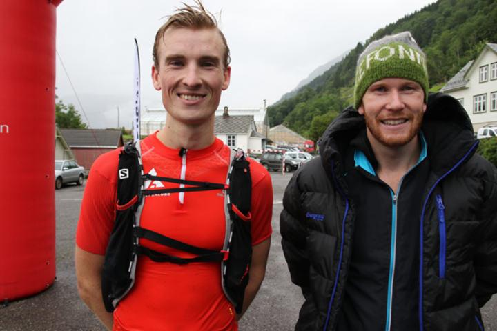 Spennende: Det var utrolig morsomt å følge med på GPS-sporingen gjennom løypa da Mats Mollandsøy (t.v) og Ingebrigt Ølmheim kjempet om seieren. Foto: Marianne Røhme