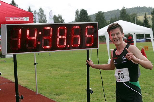 5000 m herrer U20: Jakob Ingebrigtsen vant på norsk aldersrekord ...
