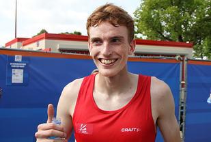 Marius Vedvik var 64 sekunder bak halvmaratonpersen sin i løpet i Den Haag. (Arkivfoto: Runar Gilberg)