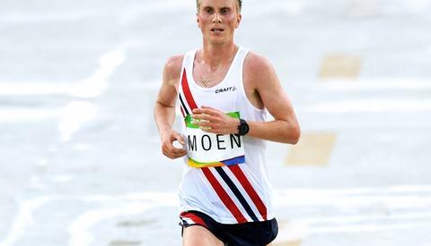 Sondre Norstad Moen i sitt olympiske maratonløp (foto: Mark Shearman)