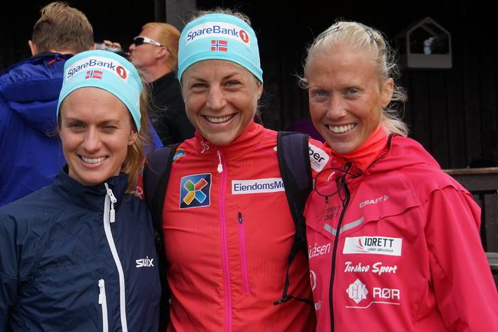 De tre raskeste kvinnene; Merete Weng, Astrid Uhrenholdt Jacobsen og Marte Kathrine Myhre (arrangørfoto)