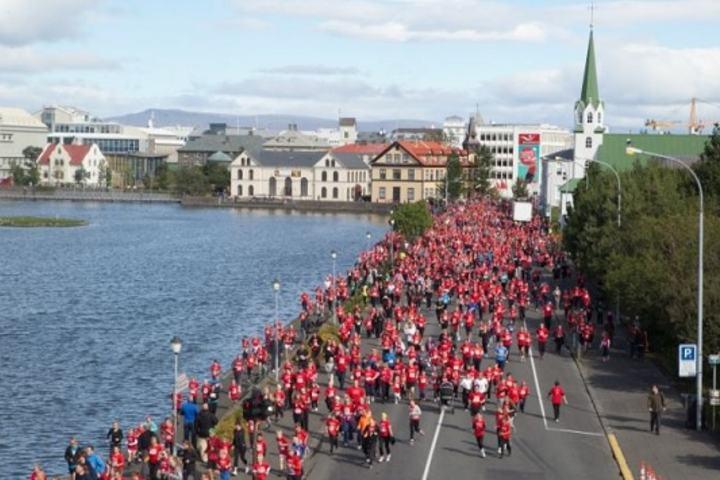 Fra årets Reykjavik Marathon (Foto: Reykjavikurmarathon)