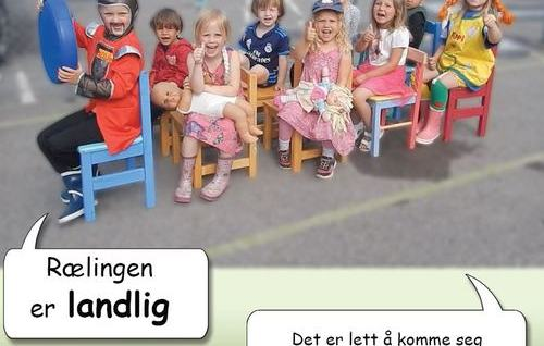 Grønn plakat om Rælingen kommune
