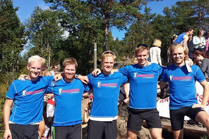 Barskingene som løp seg til topps i Oslos Råeste var foruten Hans Kristian Fløystad (til v.): Lars Lars Mejdell Hektoen, Ole Marius Hoel Rindal, og Marius Førsund. (Arrangørfoto)