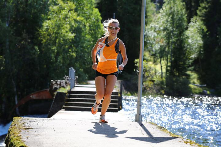 Laila Eklund vant kvinneklassen og hadde bare en av herreløperne foran seg i mål.