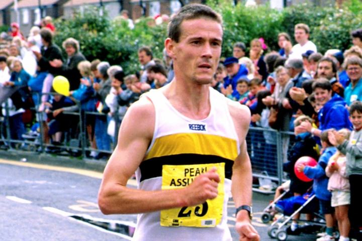 Steve Jones i Great North Run 19988 (foto: Mark Shearman).