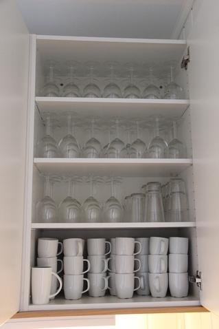 Kjøkkenskapinnvendigkopperogglass
