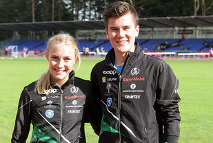 To av Sandnes IL sine fremste utøvere, Camilla Ziesler og Jakob Ingebrigtsen