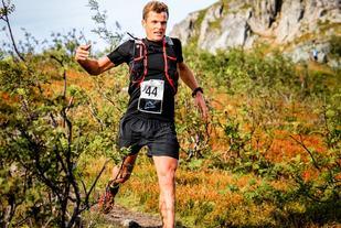 Vinneren Hallvard Schjølberg i løypa (foto: Karianne Klovning).
