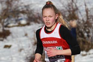 Anna Emilie Møller har tidligere utmerka seg som både terreng- og hinderløper. Nå viste den danske jenta at hun også behersker 3000 m flatt. (Arkivfoto: Kjell Vigestad)