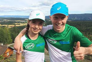 Emma og Martin Kirkeberg Mørk løp begge sterkt i Drammens Råeste. (Foto: privat)