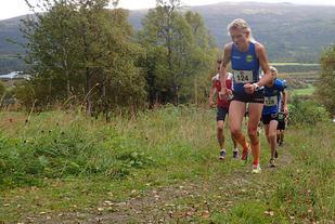 Vant: Anne Nevin ble beste kvinne opp til toppen av Hovden på tida 42.52. Foto: Marianne Røhme
