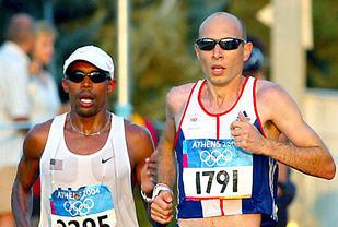 Jon Brown (t.h) har to ganger kommet på 4. plass på maraton i OL. (Foto: Mark Shearman)