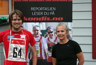 Per Harald Havnen og Miriam Mjelde med dagens beste tid
