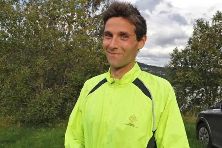 Ian Grohse nylig flyttet til Volda vant med tiden 22.09 Foto: Martin Hauge-Nilsen