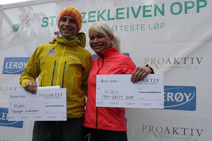 Torbjørn Ludvigsen og May Britt Buer ble årets vinnere i Stoltzen