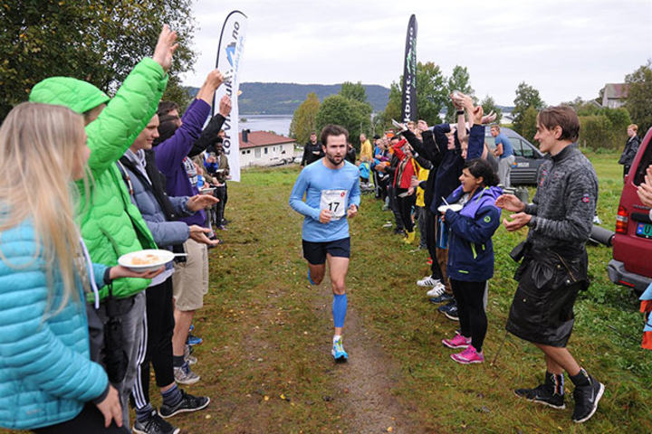 Truls Torvik, IL Varden vant årets Torvikbukt Rundt på 49:50 min. (Foto: Anders Tøsse)