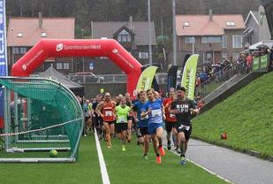 Fra starten på Sandnes Halvmaraton 1.oktober i år. Foto: Ingolf Dale