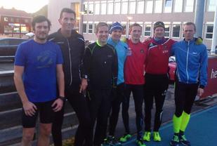 De 7 som løp 10000 meteren i årets siste stevne for Sømna IL.