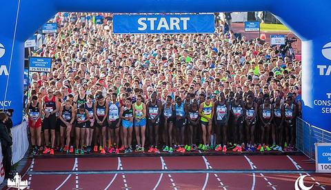 Klar for start: Maratonløperne starter inne på Olympiastadion fra 1928, mens øvrige løp starter på utsiden av stadion. Foto: Arrangøren/Vincent van den Boogaard