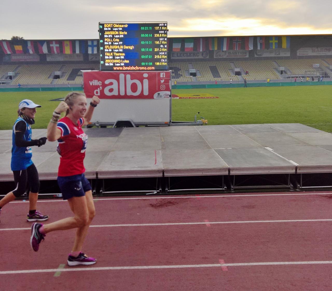 Therese Falk med norsk rekord og 4. plass i EM 24-timers ...