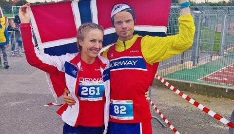 Det ble flotte plasseringer i EM på Therese Falk og Bjørn Tore Taranger (foto: Thomas Johannesson).