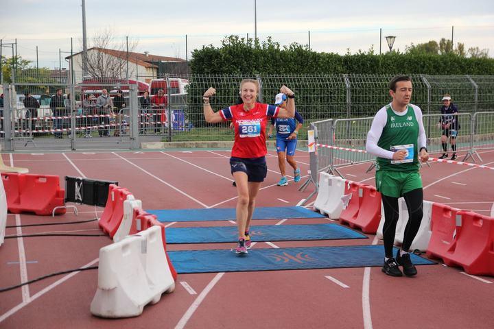 Therese imponerte alle med sin 4. plass i EM 24-timers (foto: Johan Holmgren).