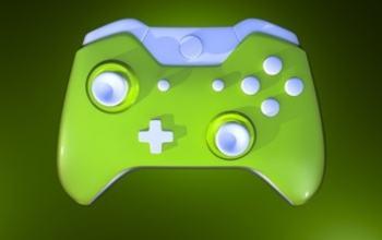 grønn spillkontroller