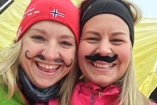 Glade berter med barter i Barteløpet i Trondheim (arrangørfoto).