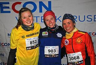 Pallen kvinner løp 1 - Silje Lindstad, Ingvild Myking og Vibeke Raa