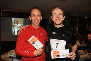 Lorentz Erland Linde og Christian Orbekk delte seieren i trappeløpet Ørnen Opp.