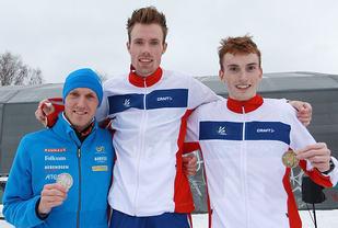 Alle de tre beste fra nordisk mesterskap i terrengløp er påmeldt Warandeloop. Vil David Nilsson (til venstre) eller Marius Vedvik (til høyre) få revansje på gullvinner Ørjan Grønnevig? (Foto: Kjell Vigestad)