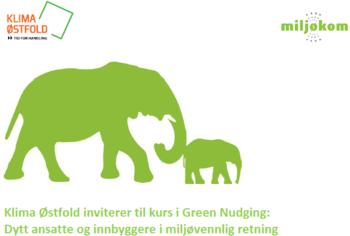 Figur som viser en grønn elefant