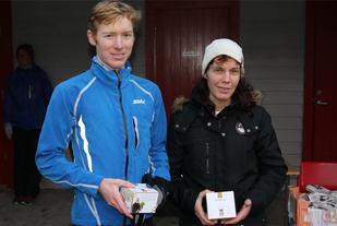 Halfdan Emil Færø og Grethe Jørgensen med bestemannspremiene