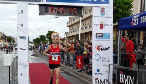 Didrik Hermansen løper inn til 15. plass i VM på ny norsk rekord (foto: Sharon Broadwell).