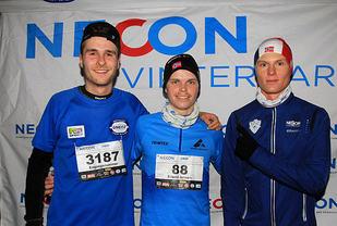 Premiepallen for menn 10km: Andreas Iden, Erlend Jensen og Sondre Øvre-Helland.