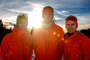 Tufte går sammen med  Øyvind Lillehagen og Halvor L. Wang på Team Rab/Åsnes.  Foto: Arrangøren