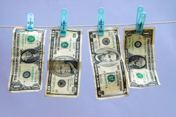 Pengesedler til tørk