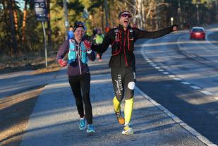 Løpeglede i romjula; Synne Vesterhus og Jacob Jacobsen (foto: Bjørn Hytjanstorp).