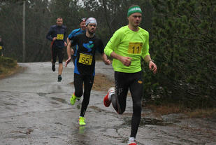 Stian Grastveit vant på suverent vis nyttårsløpet i Egersund. Foto: Lise B Hetland.