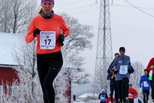 Silje Christensen i vinterkarusellens 2. løp på Sørum der hun ble nummer tre. På Bjørkelangen vant hun (foto: Bjørn Hytjanstorp).