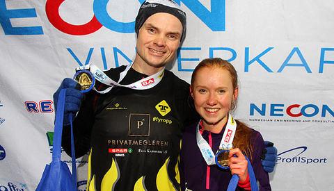 Vinnerne på 5 km ble Bjørn Tore Kronen Taranger og Adele Henriksen.