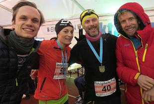 Fire norske i Sverige. Rummelhoff, Stuhr, Andersen og Amdahl. Foto: Fredrik Ölmqvist