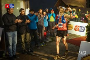 Didrik Hermansen løper inn til 4. plass i Hong Kong (foto fra arrangørens facebookside).