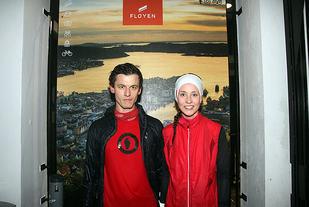 Kristoff Bjørn Simon og Trine Larsen var raskest til toppen av Fløyen