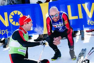 Tord Asle Gjerdalen fotografert av laget sitt Team Santander etter andreplassen i La Diagonela